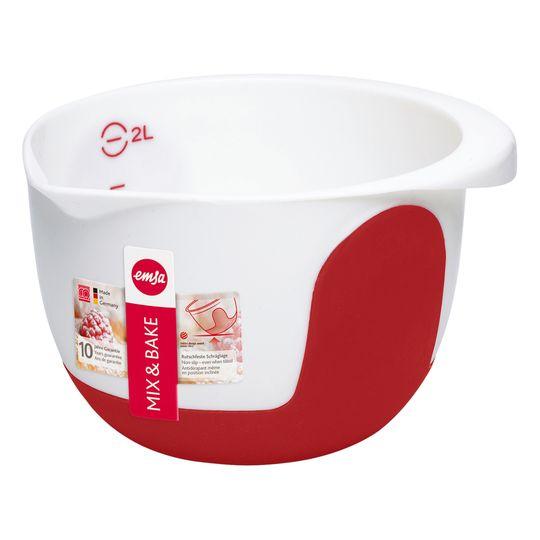 Emsa 508015 Bol Mezclador Rojo 2 L