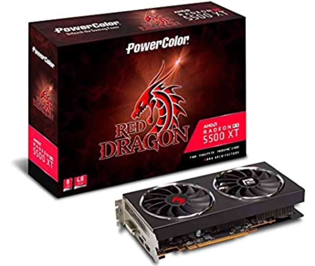 PowerColor Red Dragon RadeonTM RX 5500 XT (8 GB)+ 2 Juegos (Monster Hunter World + Resident Evil 3)+ Xbox game pass (3 meses)