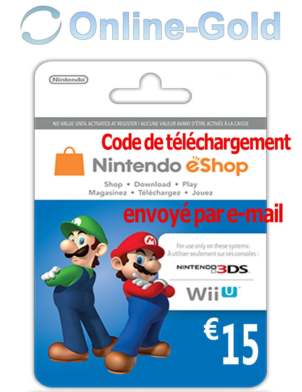 Tarjeta 15€ Nintendo por 10,99€