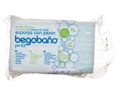 Pack 10 esponjas hipoalergénicas con jabón.