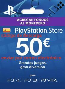 Tarjeta 50€ PSN