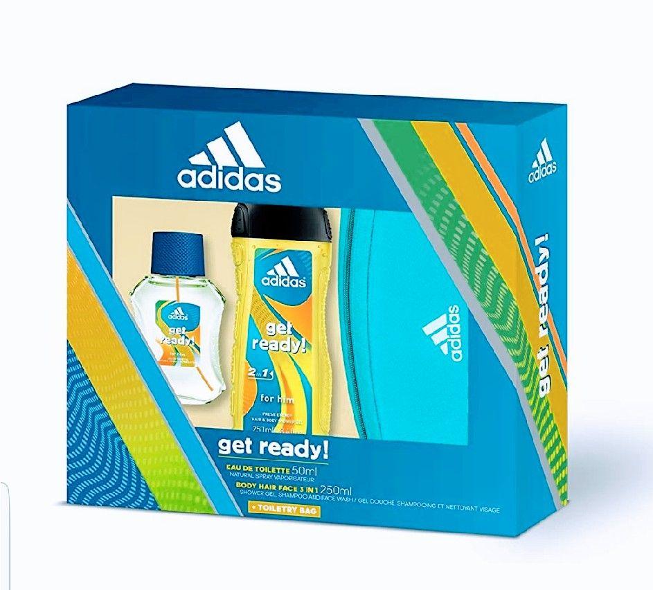 Adidas Get Ready! Set Hombre: Neceser+Gel+ Eau Toilette.