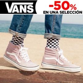 ¡ Días Flash en Vans en El Corte Inglés! 50% de descuento en ropa y calzado !