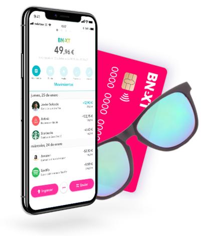 Tarjeta Bnext sin comisiones + gafas Flamingo pagando únicamente envío.