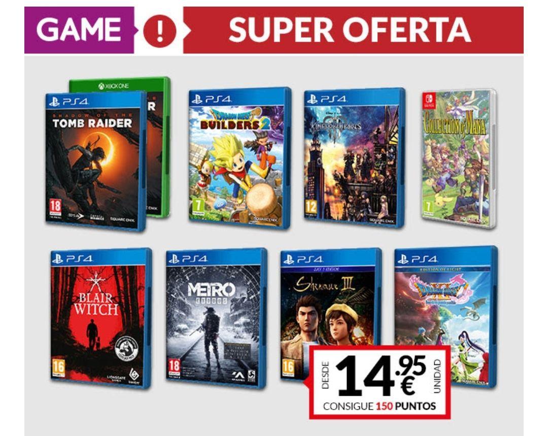 Super Ofertas Game - Juegos desde 14,95€