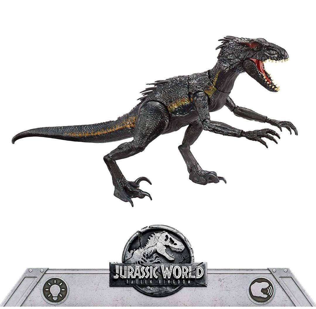 Jurassic World Dinosaurio de juguete Indoraptor luces y sonidos.