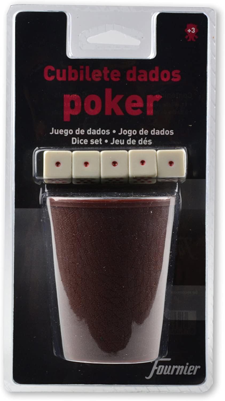 Cubilete + Dados de Póker Fournier por 2 euritos