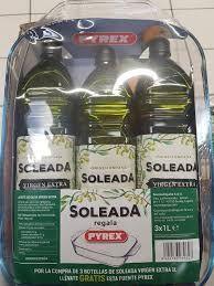 3 botellas 1L AOVE y de regalo una fuente/bandeja de cristal (Carrefour de zaragoza)