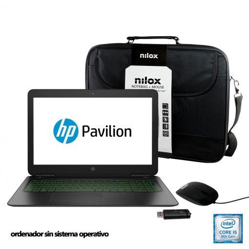 Hp i5-9300 gtx 1050, maletin, ratón y pendrive de 16gb