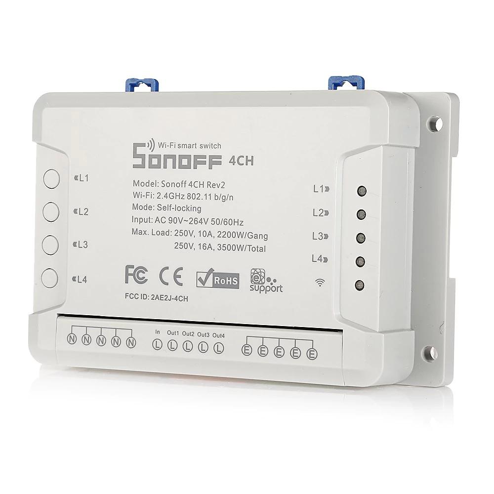 Smart Home: Sonoff Switch Wifi de 4 canales por solo 14,15