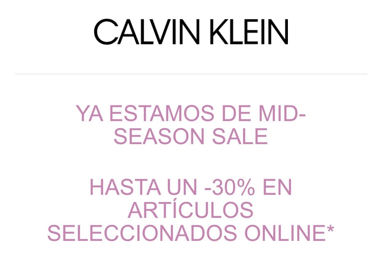 CK | 30% descuento en artículos seleccionados