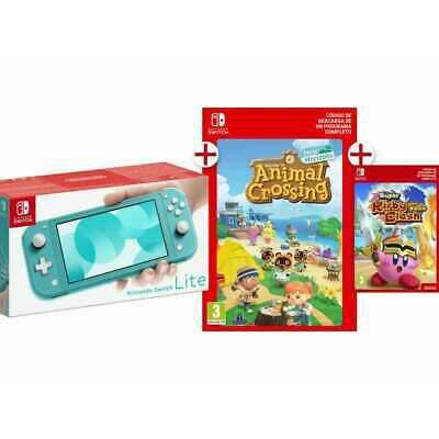 Nintendo Switch Lite + Animal Crossing + Kirby Clash Desde España