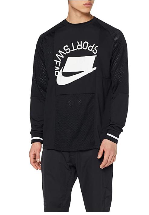 Nike M NSW Top LS Ptch Long Sleeved t-Shirt, Hombre