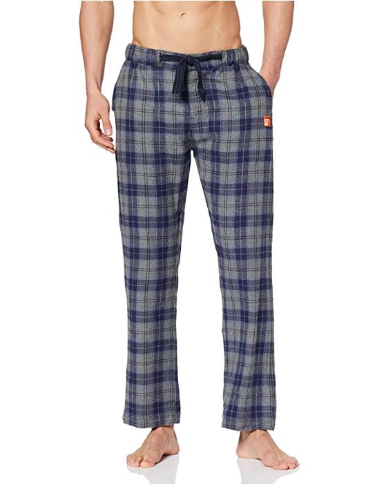Superdry Laundry Flannel Pant Parte Inferior de Pijama para Hombre talla XS