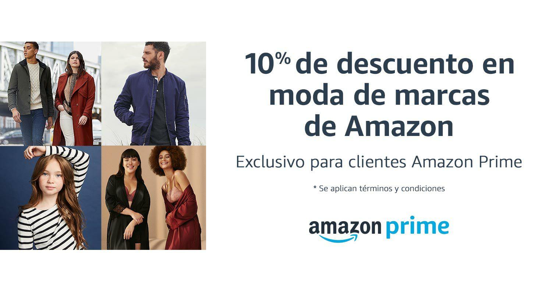 10% de descuento en moda de marcas de Amazon al comprar 1 o más productos (sólo para clientes Prime)