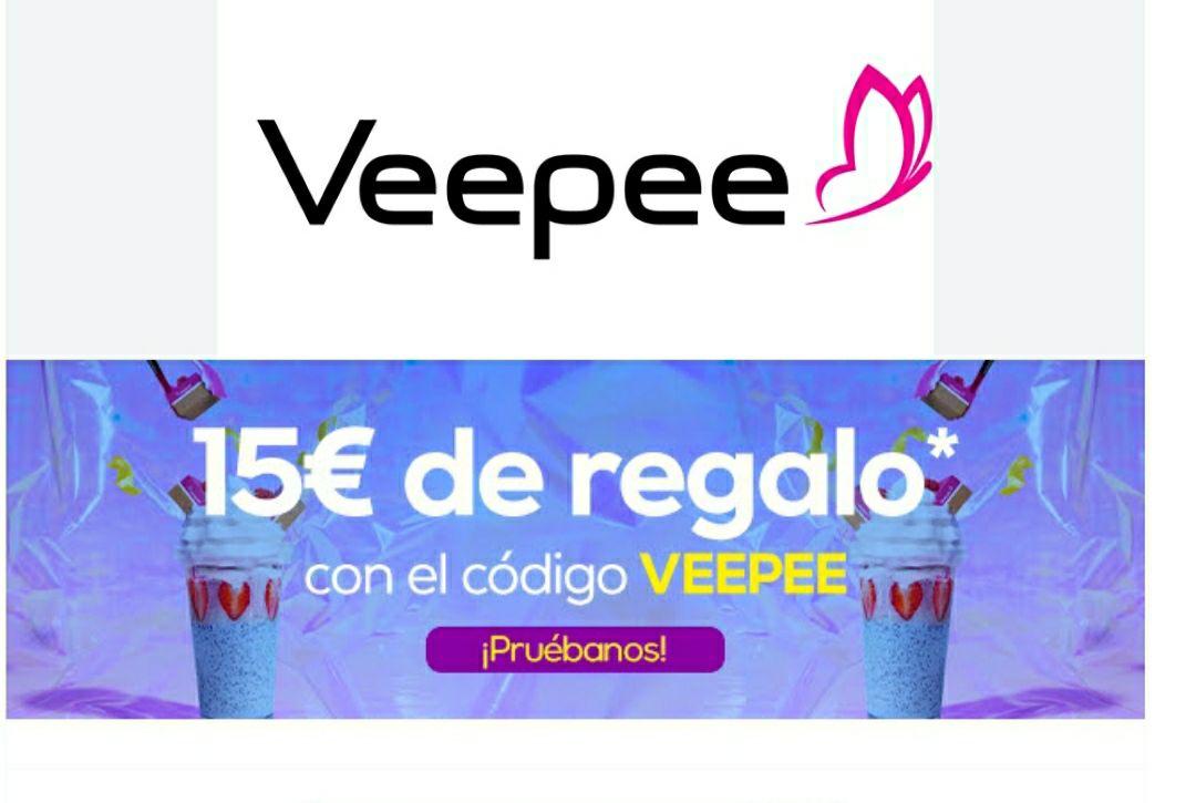 15 € Descuento VEEPEE para todas las cuentas y pedido mínimo de 40€