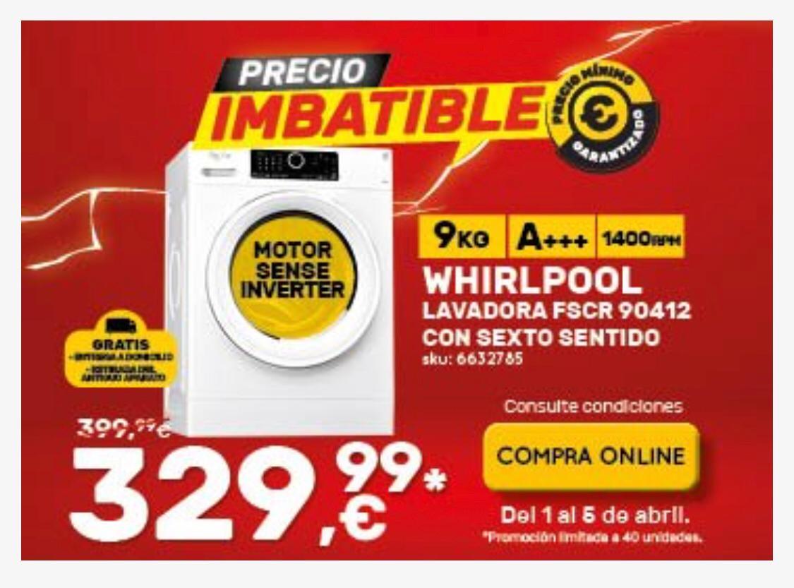 Lavadora WHIRLPOOL FSCR90412 (9 kg - 1400 rpm - Blanco)