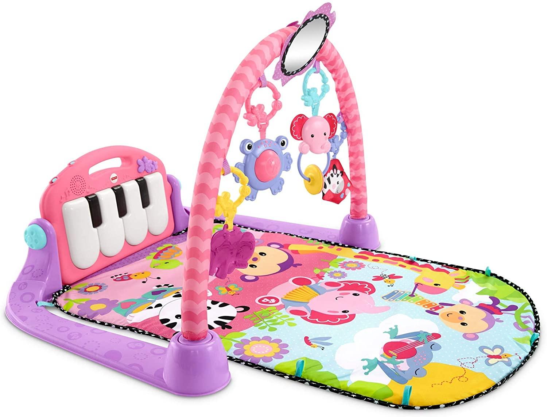 Gimnasio piano pataditas rosa para bebe Fisher-Price