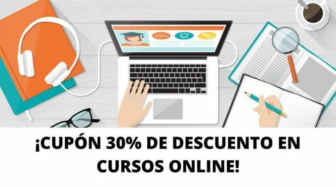 ¡Fórmate durante la cuarentena! Cupón 30% EXTRA en cursos online ya rebajados!