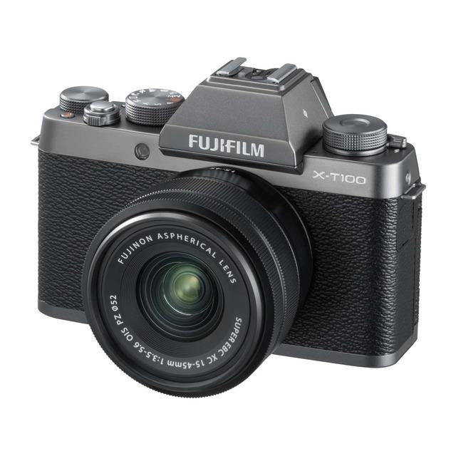 Cámara Evil Fujifilm X-T100 con Objetivo XC 15-45 MM + Funda SDHC16 + Memoria 16GB