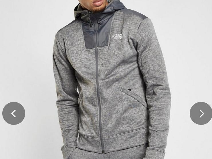 The North Face chaqueta con capucha Full Zip Woven Mittelegi