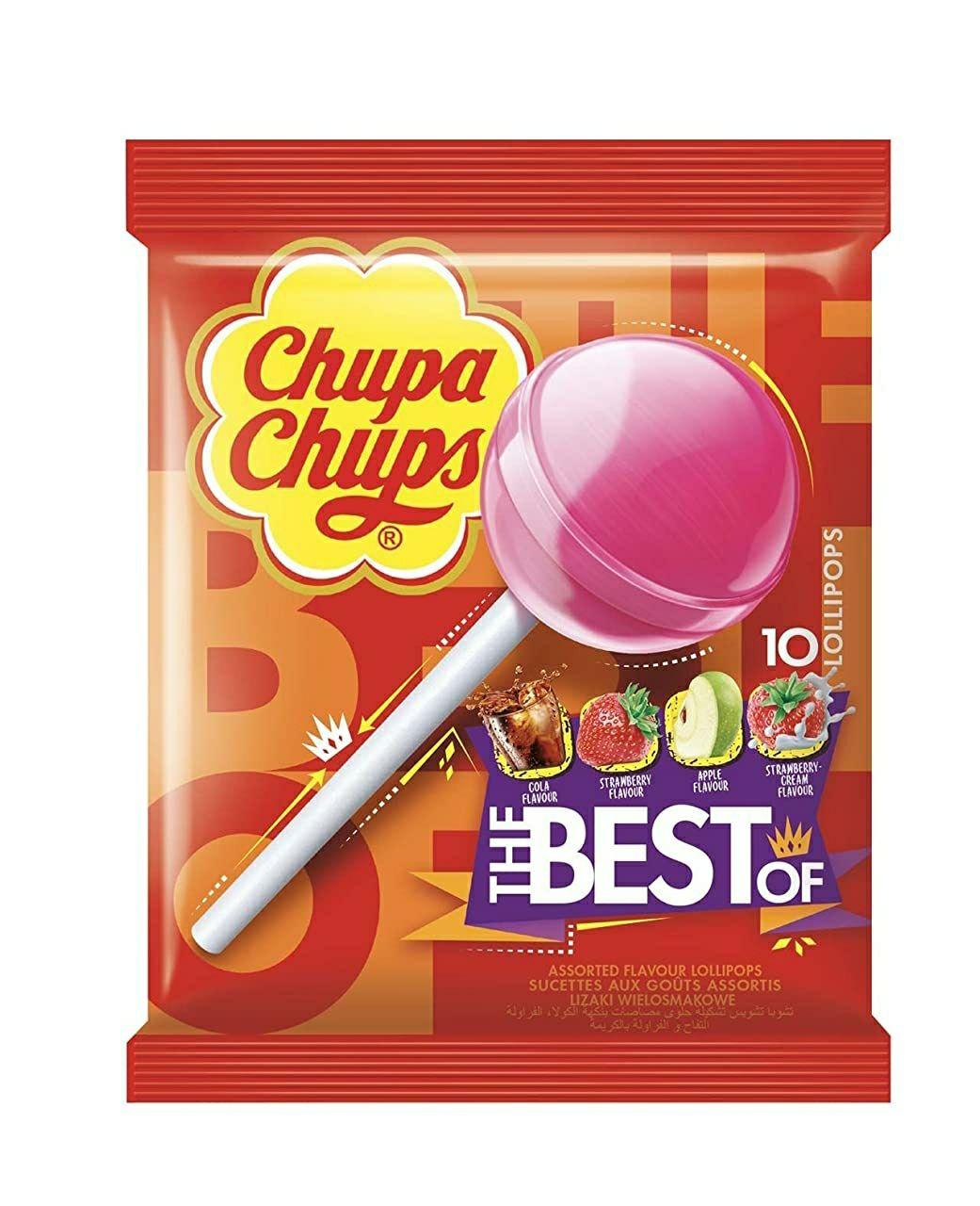 Chupa Chups - Lollipops - Caramelos - 10 caramelos