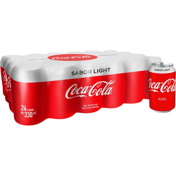 48 latas de coca-cola light