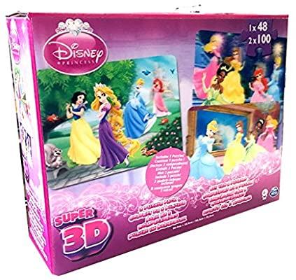 3 puzzles 3D princesas Disney