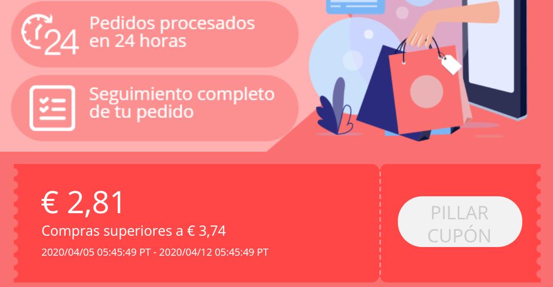 2,81€ de descuento para nuevos usuarios de AliExpress