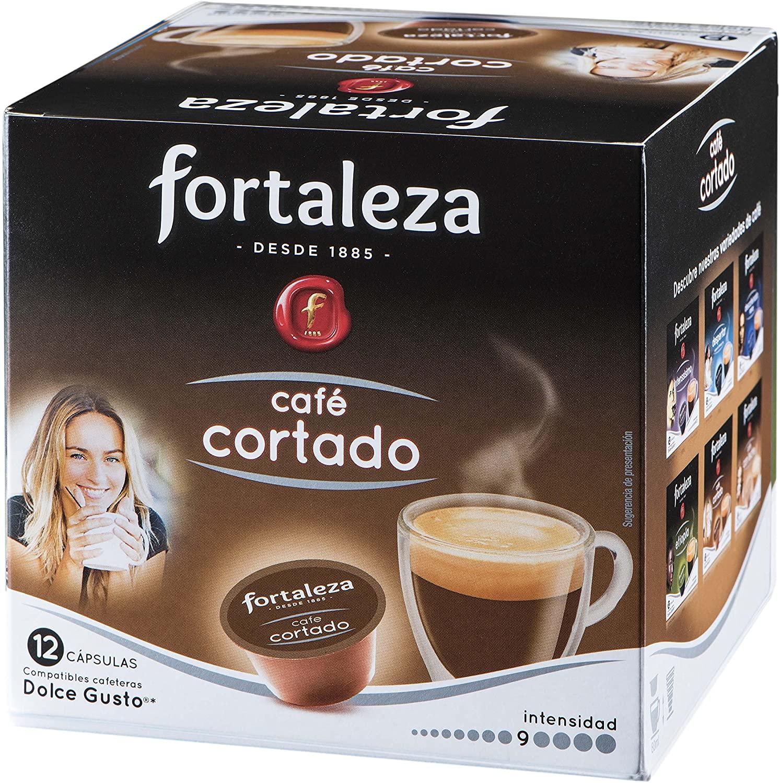 12 Cápsulas Cortado Café Fortaleza Dolce Gusto 0,19€ unidad