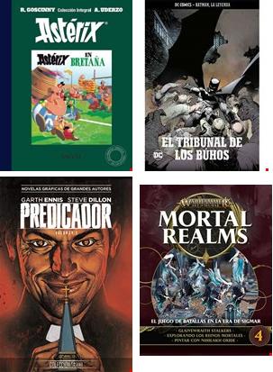 2x1 en Salvat (DC, Vertigo, Asterix, Warhammer) con envíos gratis