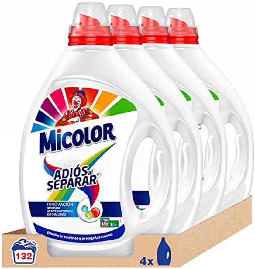 Pack de 4 Micolor Detergente Líquido Adiós al Separar 132 Lavados