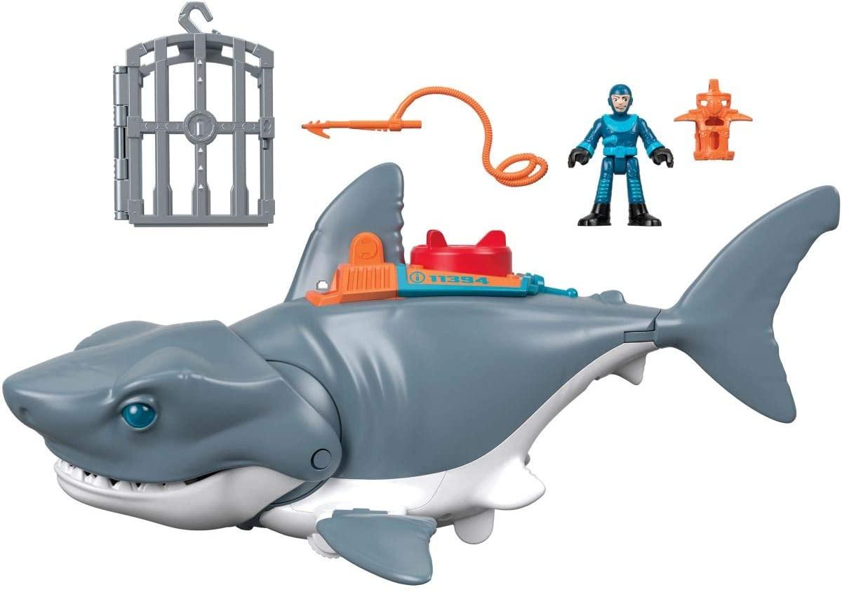 Imaginext - DC Super Friends Batman Tiburón Megamandíbulas Juguetes niños +3 años