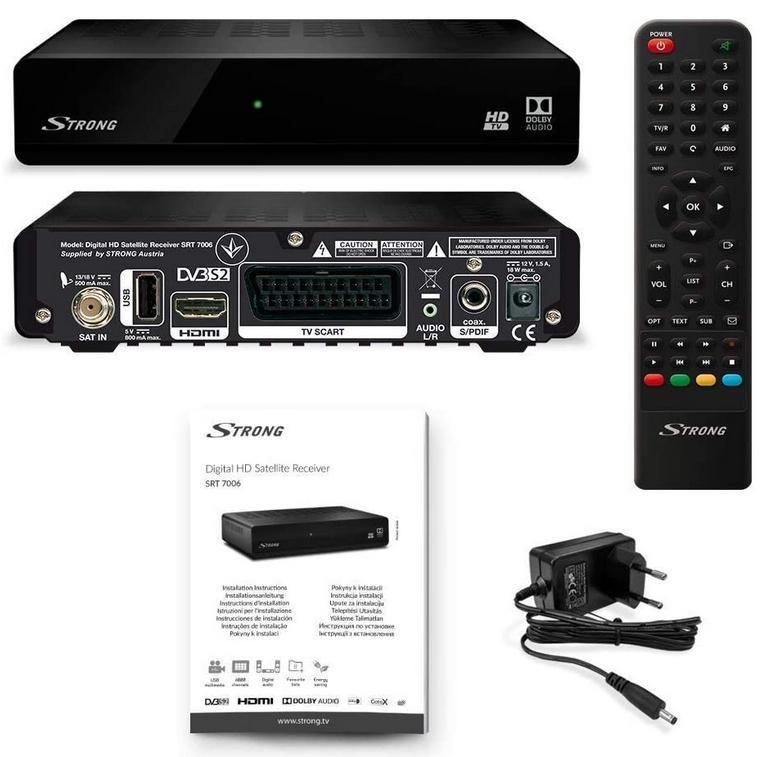 Receptor por satélite (HDTV, DVB-S2, Media Player, USB, HDMI) (REACO)