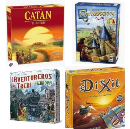 Mejores precios de juegos de mesa básicos (Catan, Carcassonne, Dixit…)