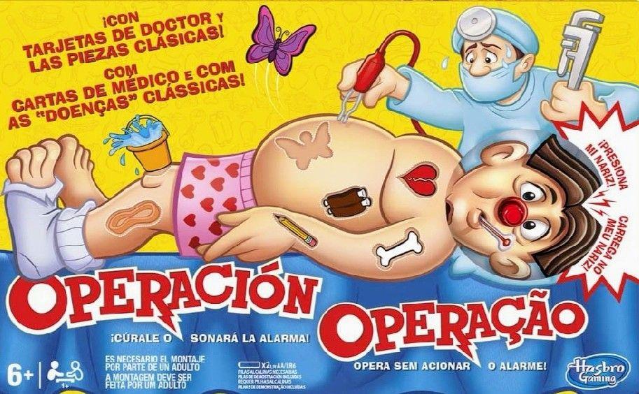 Hasbro Gaming, Juego de Mesa Operación.(descuento al tramitar)