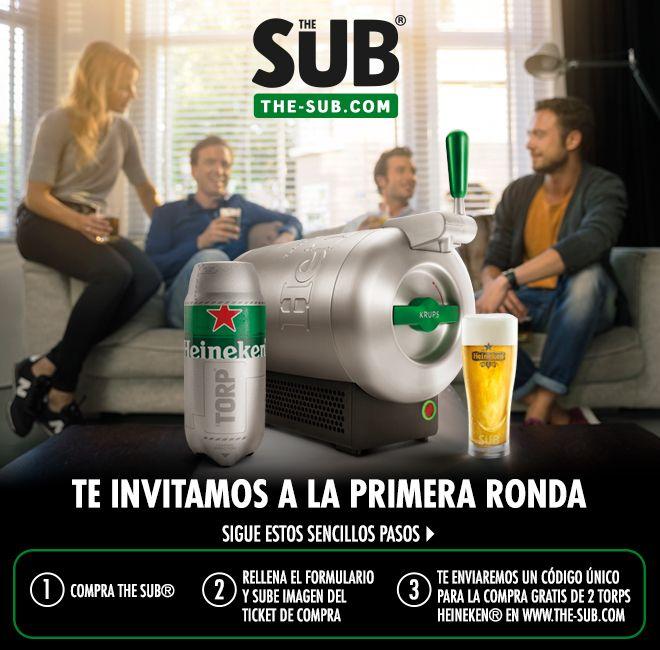 Por la compra de un tirador The Sub 2 Torps Heineken GRATIS