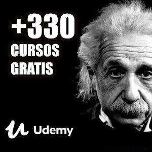 +330 cursos gratis en español (udemy)