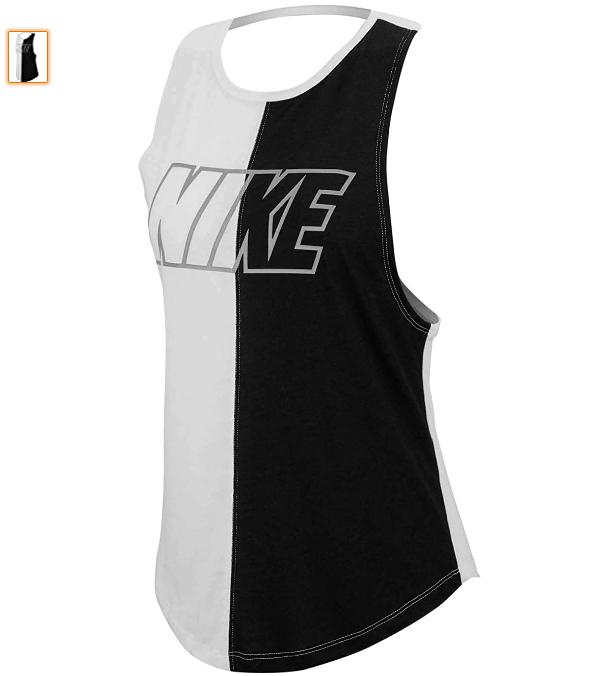 Nike W NK Miler SD Tank, Mujer, White/Black/Atmosphere Grey, M