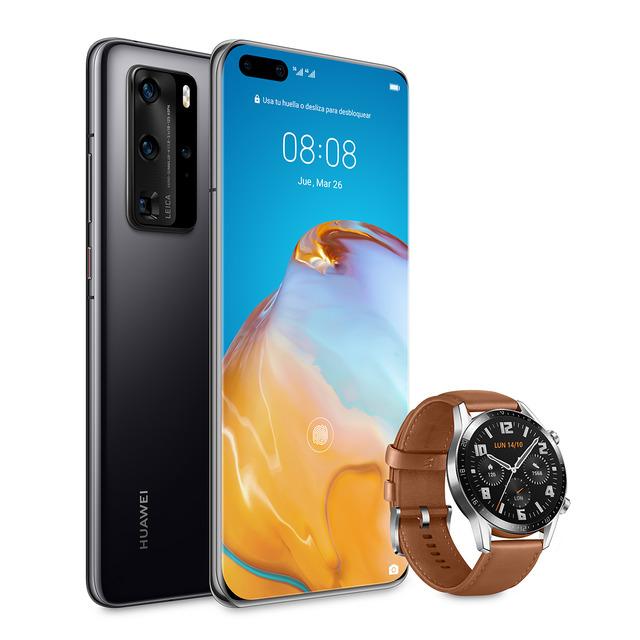 P40 Pro 5G 256GB/8GB RAM + Huawei smarwatch GT 2 de 46mm elegant
