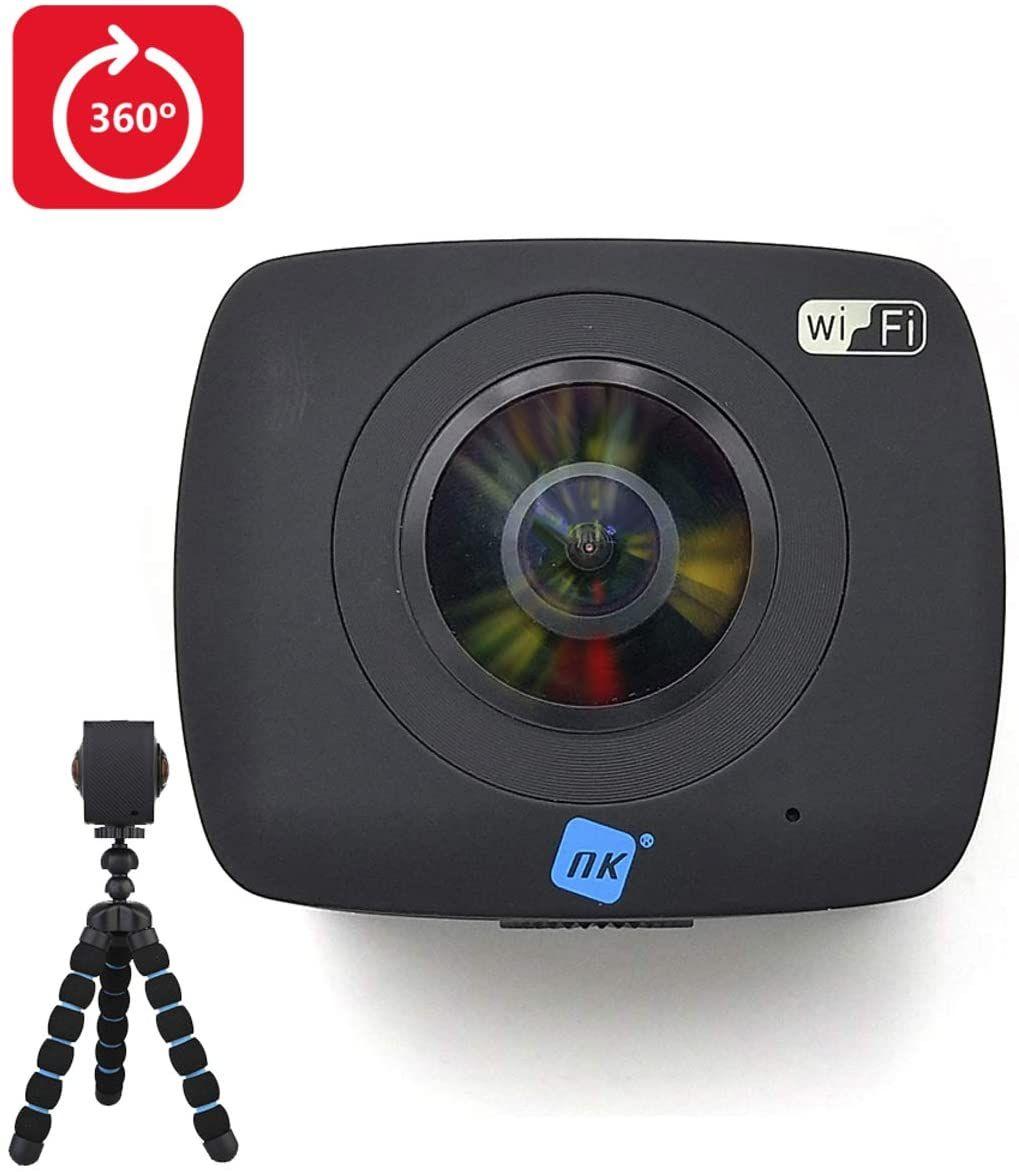 Cámara de Acción Doble Óptica, Wifi, USB, 360º X2 - Reacondicionada
