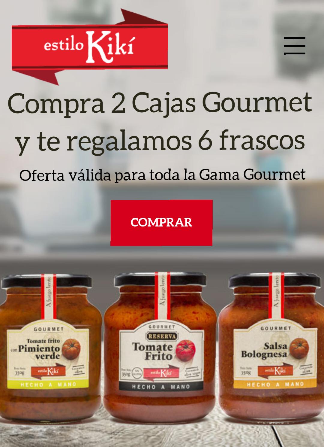 6 botes de tomate gourmet gratis al comprar 2 cajas.