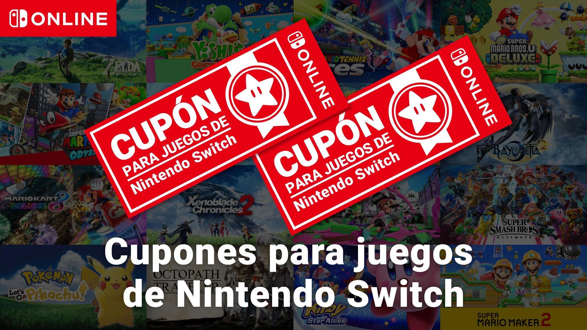 Cupones para Nintendo Switch (2 Juegos por 99€)