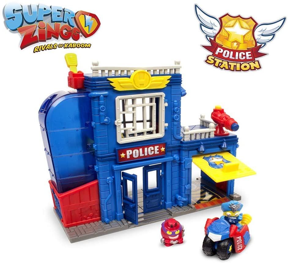 Superzings - Estación De Policía, con 2 exclusivas figuras