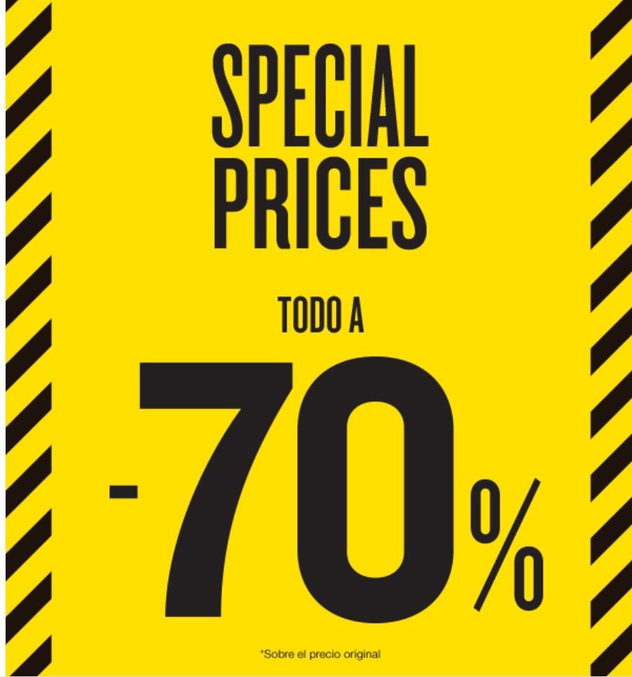 Zona en los Outlets Desigual con todo al 70%.
