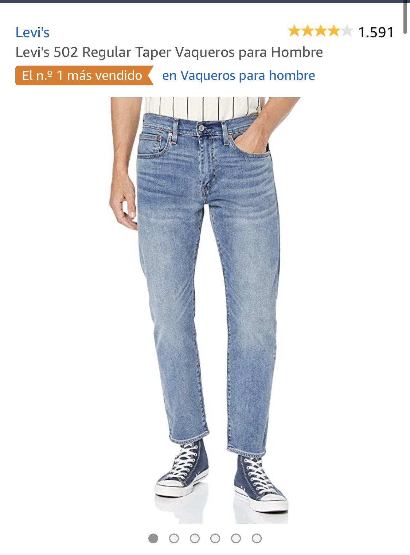 Levis 502 mínimo histórico talla 29/32 en color azul clarito