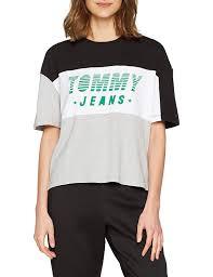 Tommy Hilfiger Color Block Racing Logo Camiseta para Mujer talla XS.