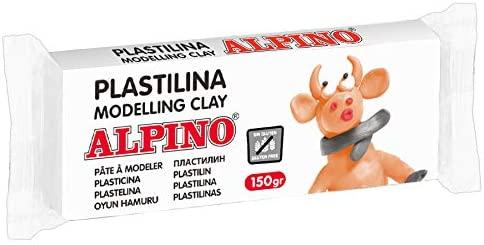 Plastilina Alpino blanca 150g por 0,60€