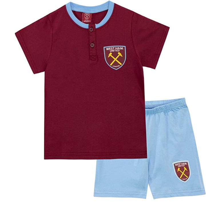 Chollo para futboleros menudos. Pijama West Ham United
