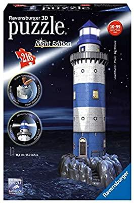 Puzzle 3D Faro con luz, leds incluidos, calidad Ravensburguer